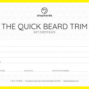 THE QUICK BEARD TRIM