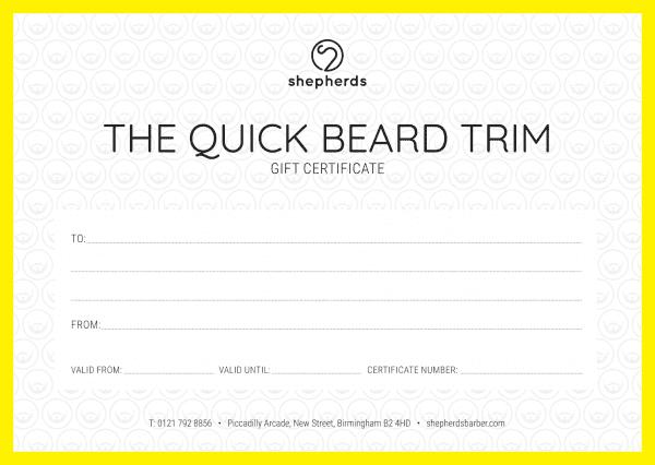 THE QUICK BEARD TRIM