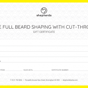 THE FULL BEARD SHAPING