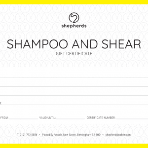 SHAMPOO AND SHEAR