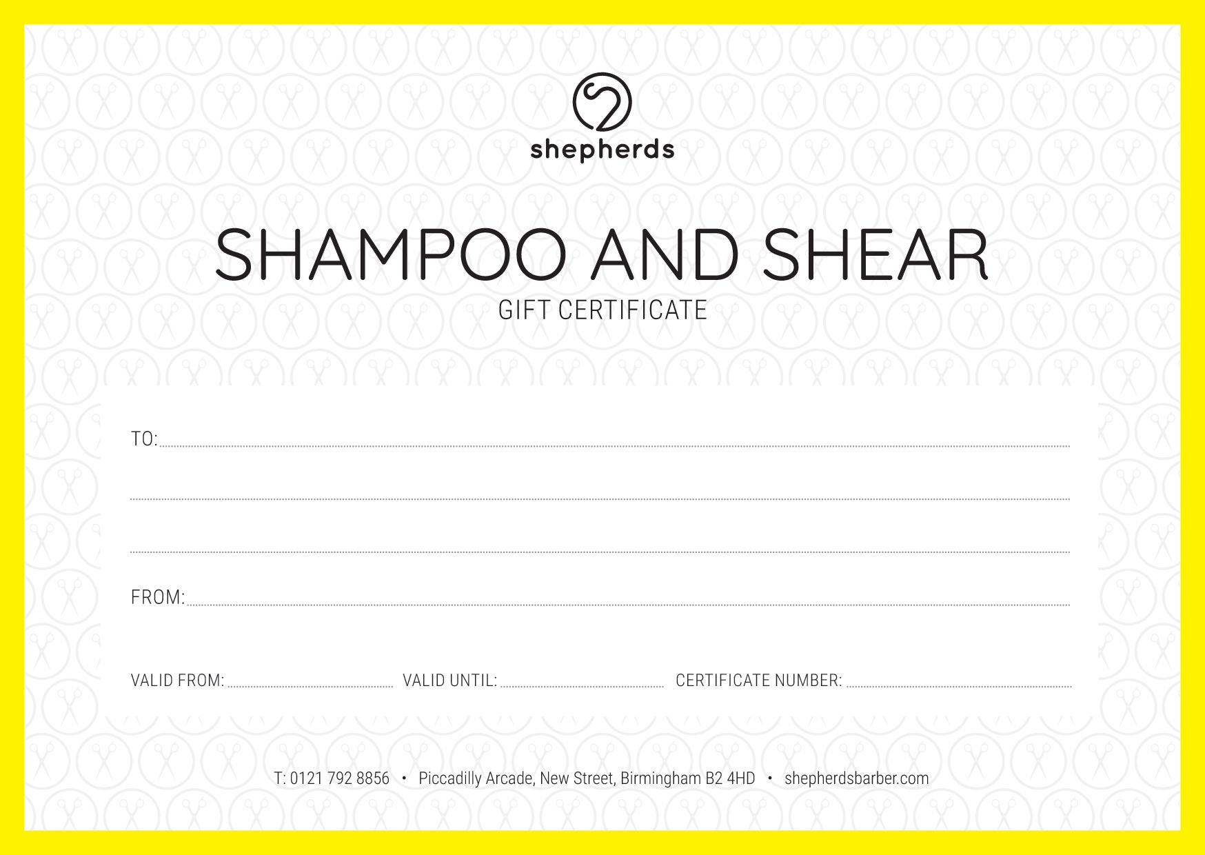 SHAMPOO AND SHEAR