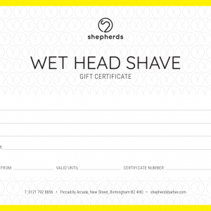 WET HEAD SHAVE