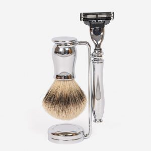 Chrome Shaving Set Gillette Mach3