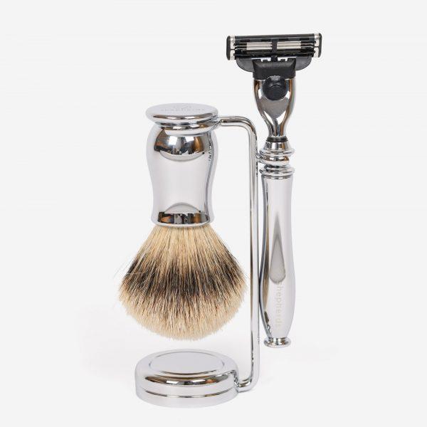 Chrome Shaving Set Gillette Mach3