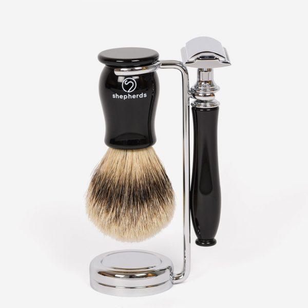 Ebony Piccadilly shaving set
