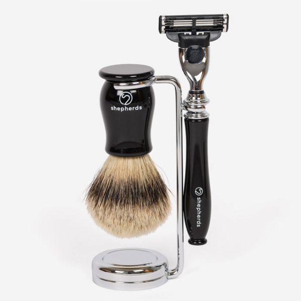 Shepherds Ebony shaving set Gillette M3